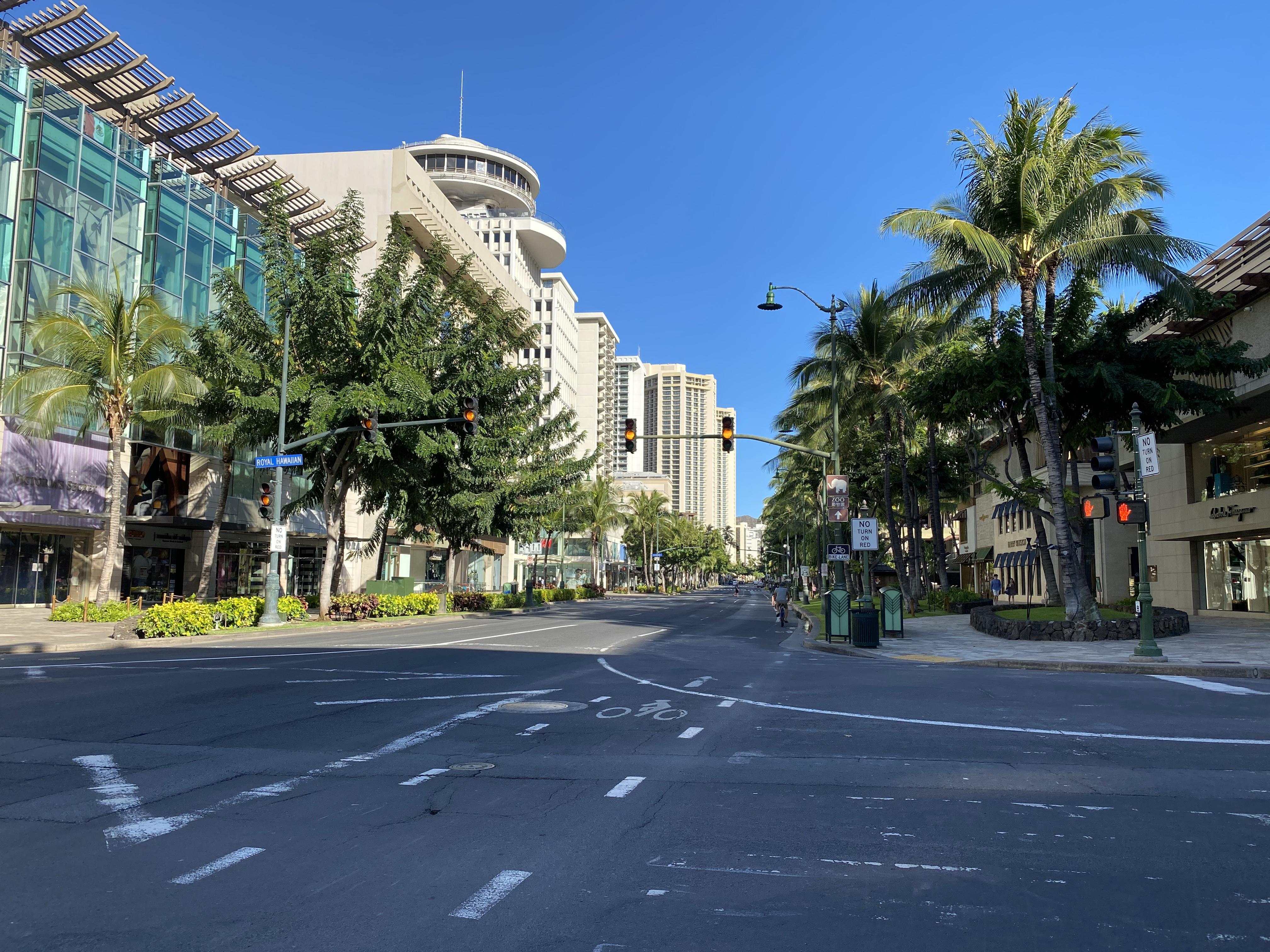 Waikiki がゴーストタウンになってます